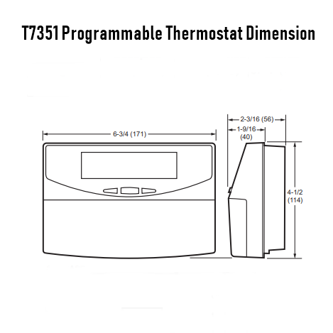 Honeywell T7351F2010 Commercial 365-Day Display Programmable Thermostat