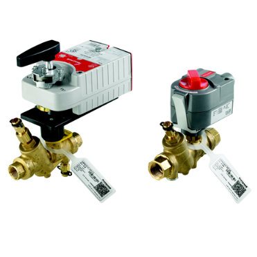 """Honeywell VRN2HUSXB200 Pressure Independent Control Valve & Actuator Assembly 3"""" 45GPM Proportional Spring Return Normally Closed 24V with Auxiliary Switch"""