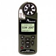 Kestrel 0845ABOLV Series 4500 Pocket Weather Tracker with True Heading & Bluetooth