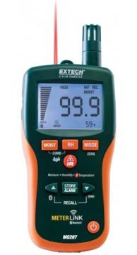 Extech MO297-NISTL Pinless Psychrometer/IR Thermometer & Bluetooth MeterLink with NIST Traceable Certificate