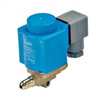 "Danfoss 032F8115 Separate Valve Body for EVR 3 Series Solenoid Vave 1/4"" x 1/8"" Flare Without Manual Stem"