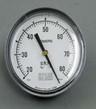 """Siemens Building Technology 142-0283 Gauge 3.5"""" Dial 20-80% Relative Humidity 1/4"""" Barbed"""